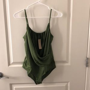 New with tags Jcrew green wrap body suit